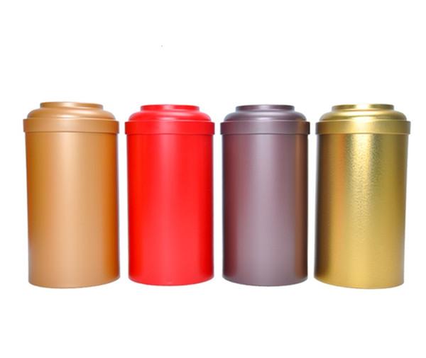 Dia.10.5*21.5cm 2015 New Item Hot Selling Creative Design Round tin box/tea sealing pot or jewelry box