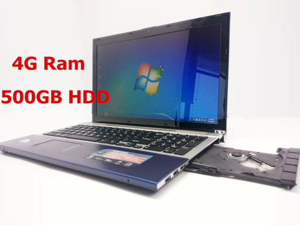 15 inch gaming laptop notebook computer wtih DVD 4GB DDR3 500GB HDD in-tel J1900 2.0Ghz quad core WIFI webcam HDMI