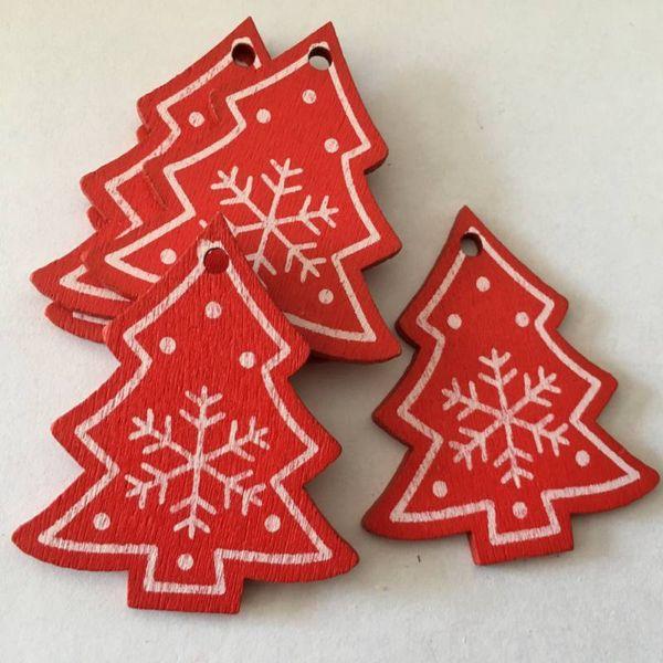Pendant Drop 10pcs/set Christmas Snowflakes Wooden Pendants Ornaments Christmas Party Decorations Kids Gift For Xmas Tree Ornaments