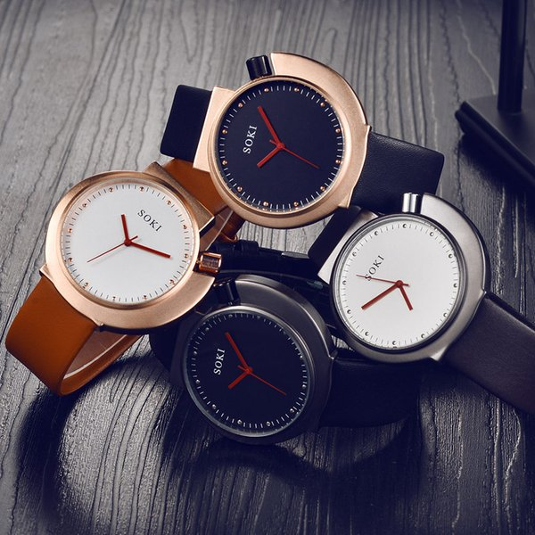 Couple Fashion Nylon strap Analog Quartz Round Wrist Watch Watches verycomfortable wearing charming for all occasions