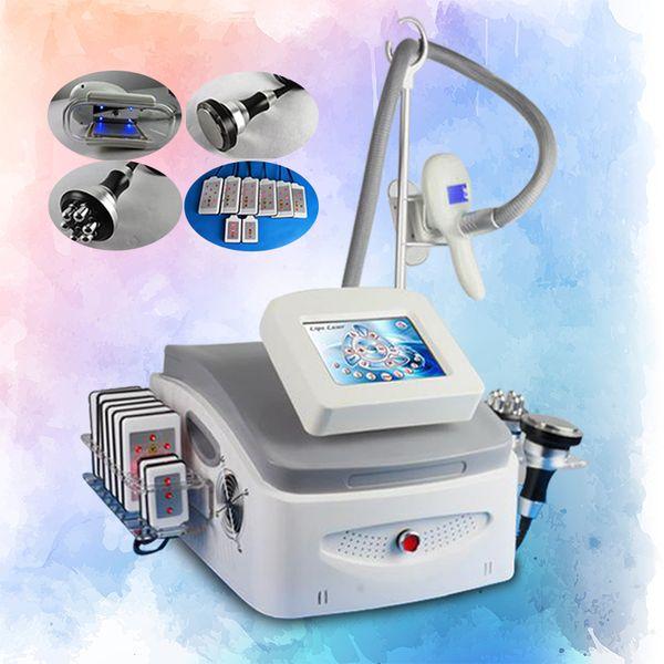 2018 Novo Modelo !!! O corpo portátil que dá forma a Cryolipolysis faz à máquina o laser de Lipo Cryotherapy Cavitação Cryotherapy CE de congelação gordo do congelamento / DHL