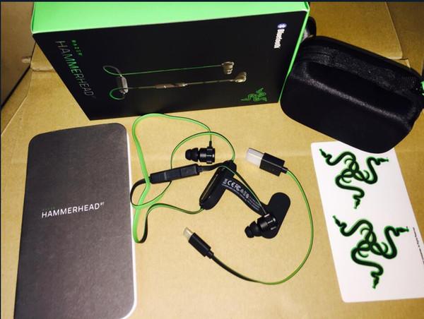 Venta caliente inalámbrico Razer Hammerhead BT Bluetooth auriculares inalámbricos en los auriculares con micrófono con caja al por menor en los auriculares del juego del oído