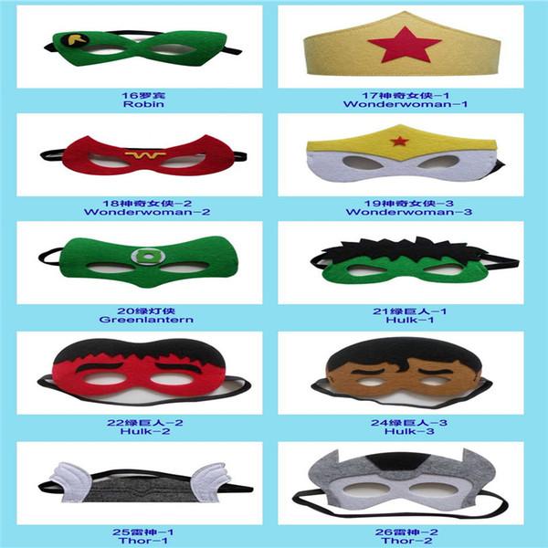 25 Kinds Of Superhero Mask Custom Mask Fancy Halloween And Christmas Etc Festival Supplies Half Face Multi Styles Felt Dacron Mask