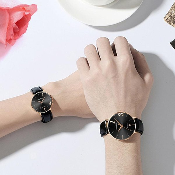 GAIETY Brand Fashion Couple Watch Women Men Leather Strap Analog Quartz Ladies Wrist Watches For Lovers Montre Femme*320