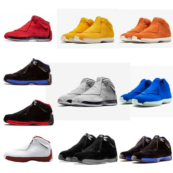 Cheap fashion 18 18s Mens Basketball Shoes Toro OG ASG Black White Red Bred Royal Blue Athletic Sports Sneakers trainers designer shoes