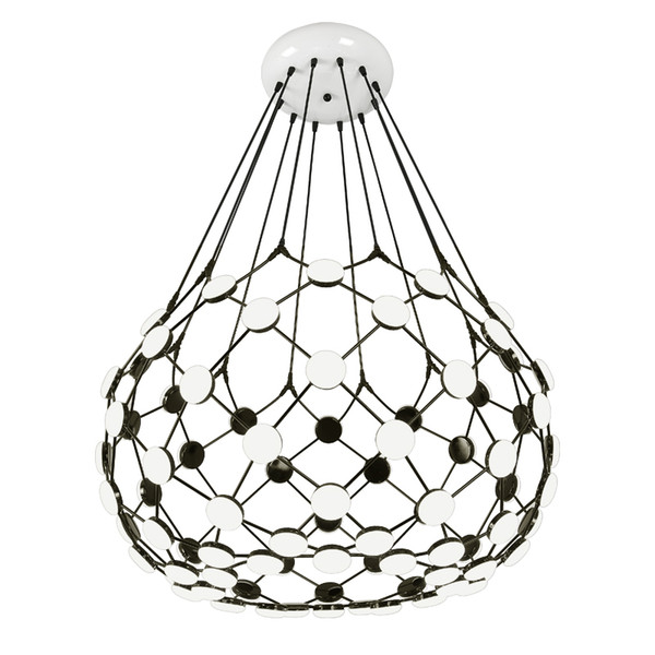 Creative chandelier black and white chess piece modern grid villa living room staircase clothing cafe shop pendant lighting