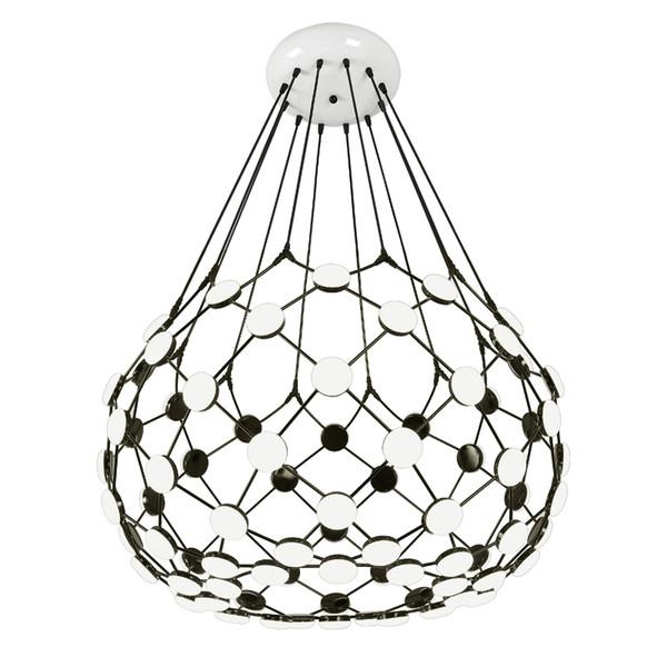 Lustre créatif noir et blanc pièce d'échecs moderne grille villa salon escalier vêtements café boutique pendentif éclairage