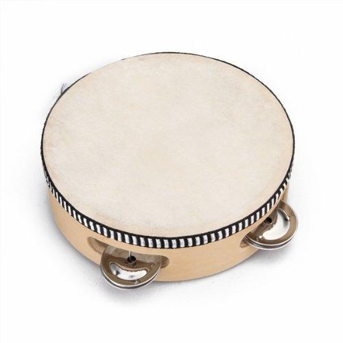 """top popular Children's toy tambourine with wood with 6 """" Leather 2020"""