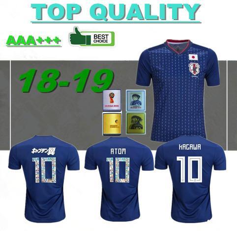 Número dos desenhos animados fontes 2018 Japão camisa de futebol 10 ATOM copa do mundo Tsubasa KAGAWA ENDO OKAZAKI NAGATOMO HASEBE seleção nacional Camisa de Futebol