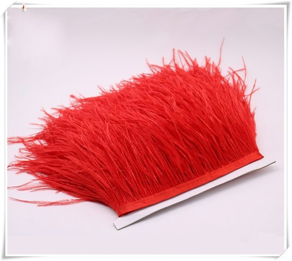 Feather Ostrich Hair Cloth Edge Lace Skirt Ostriches Fringe Trim Feather For Dresses Garment Accessories 16 8wc gg