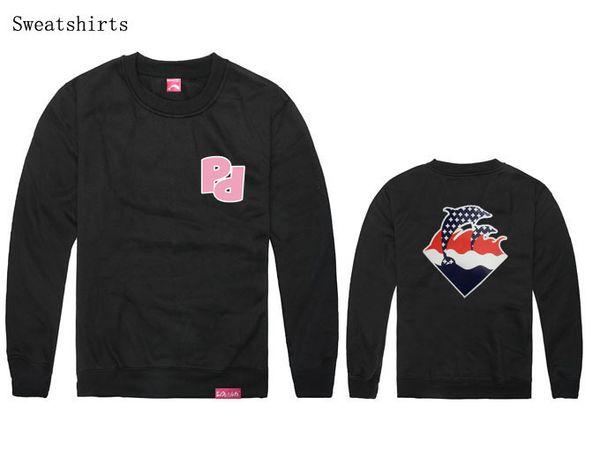 Оптовая продажа-новый pinkdolphin хип-хоп crewneck толстовка Марка мужчины мода citi тенденции одежда плюс размер пот костюм розовый дельфин толстовка