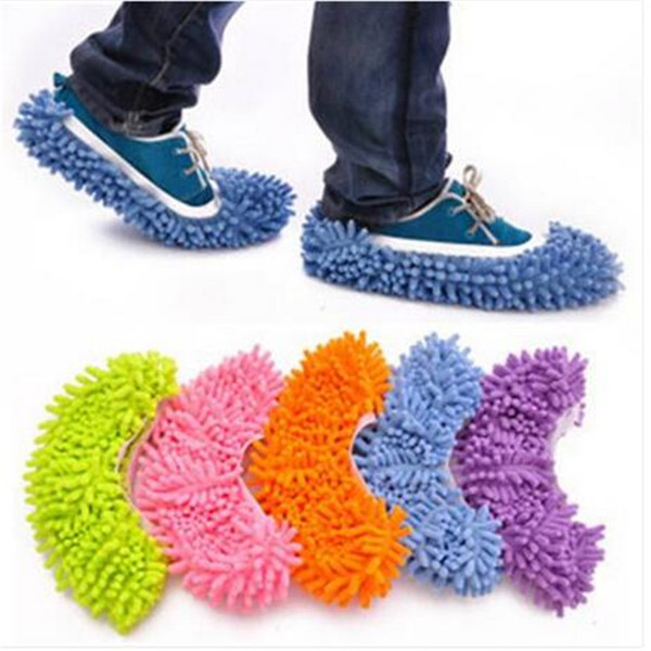 Hot sales free shipping Mop Shoe Cover Dust Mop Slipper House Cleaner Foot Lazy Floor Household Cleaning Tools Cleaning Cloths
