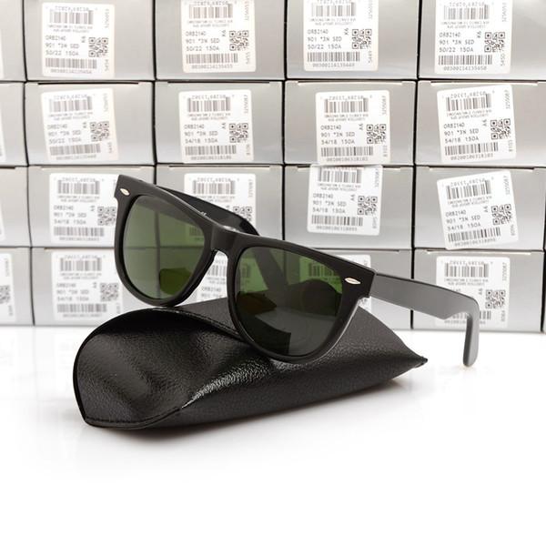 54MM Black Frame Green Lens