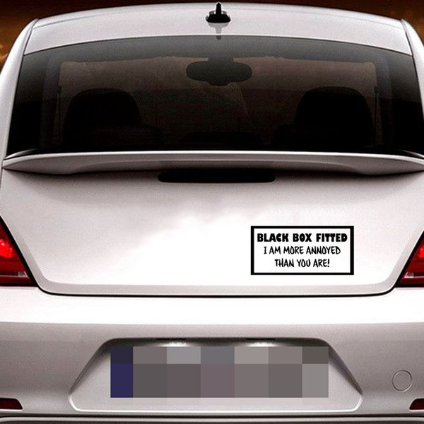 18*8.5cm Black Box Fitted I Am More Annoyed Than You New Driver Car Window Bumper Sticker Vinyl Decor Decals