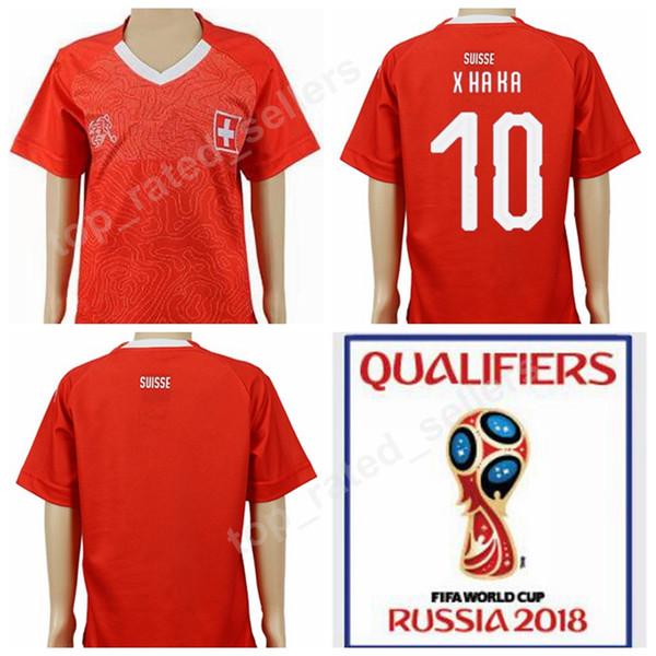 official photos f494e d26c7 2019 World Cup 2018 Switzerland Kids Soccer Jersey Suisse 10 Granit Xhaka  Youth Football Shirt Kits 23 Xherdan Shaqiri Children Home Red Thai From ...