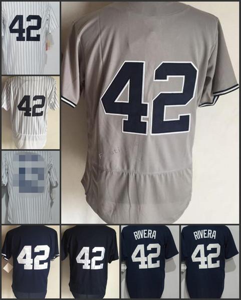 san francisco 28145 b0edf 2019 2018 Flexbase New York #42 Mariano Rivera Home Away Baseball Jersey  White Blue Grey Pinstripe Cool Base Stitched Jerseys From Fanatic_shop, ...