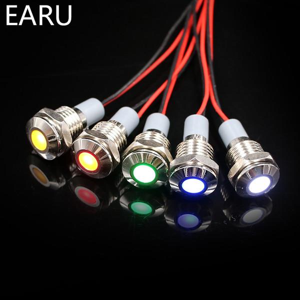 LED Signallampe Signalleuchte Kontrollleuchte blau Edelstahl 6V 12V 24V IP67