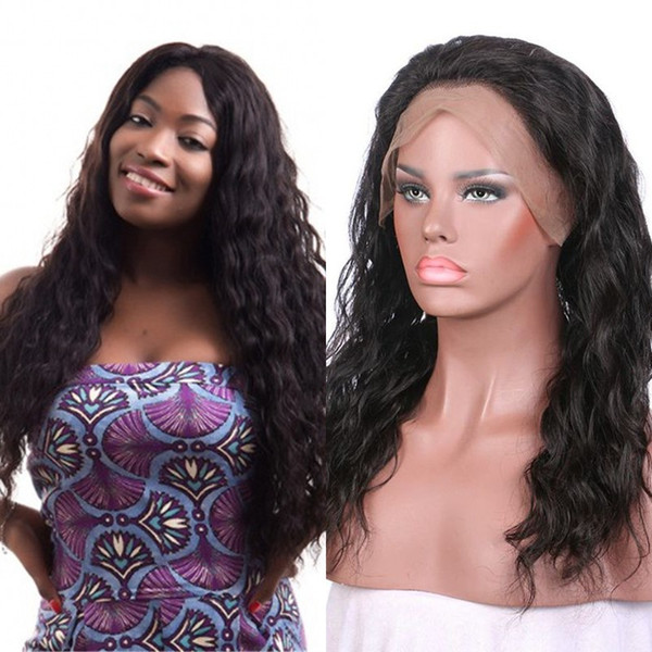 Peruvian Human Hair Water Wave Lace Front Wig with Baby Hair 360 Lace Frontal Wig Pre Plucked Hairline FDshine