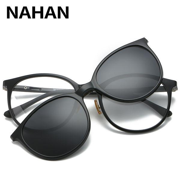 Frauen Männer polarisieren magnetischen Clip Brille männlich Driving Klipp auf Sonnenbrillen Korrektionsbrillen Magneten Myopie-Glas-Rahmen mit Fall