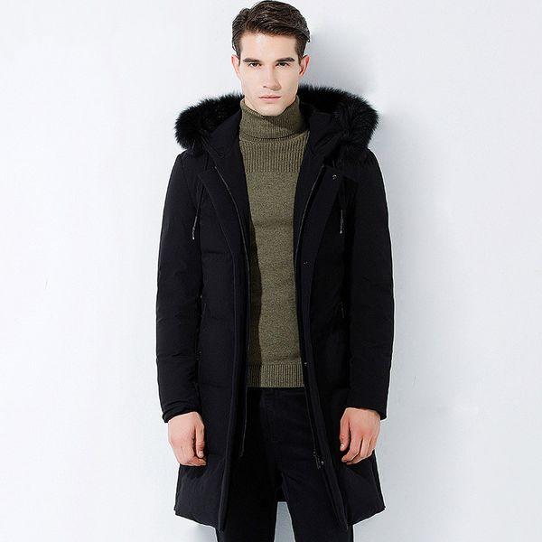 Mens Clothing 2018 Winter Jacket Men Clothes White Duck Down Jacket Men Parkas Long Fox Fur Hooded Down Coat Parka ZT478