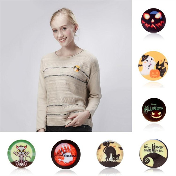 Halloween Day Gift Brooch Gift Pin Colorful Cartoon Pins Brooches Vintage Pins Jewelry Brooch for Children Boys Girl Women Men Clothes Decor