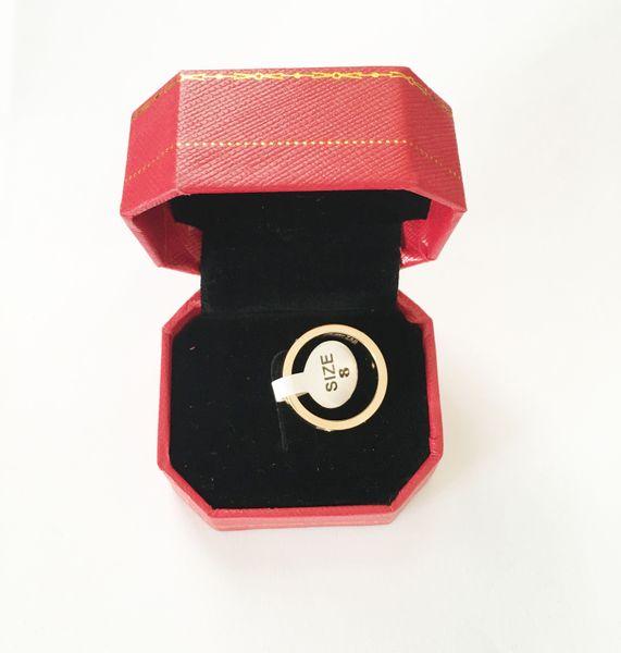 fashion brand Titanium steel rose gold love ring 4cm silver lover ring screwdriver wedding jewelry birthday present For Women men rings