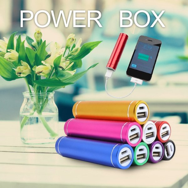 free shipping cylinder shape 2600mah Portable Mobile Power Bank 5V 1A USB Battery Charger 18650 power bank for your Phone