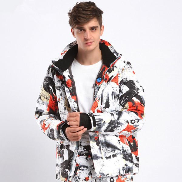 2018 NEW Men Ski Jacket Winter Snowboard Suit Men's Outdoor Warm Waterproof Windproof Breathable Clothes