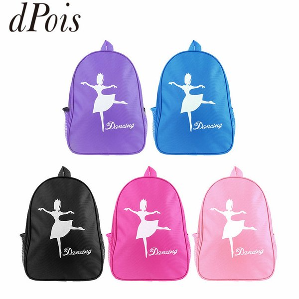 DPOIS Children Ballet Dance Bags Girls Student School Backpack Cartoon Dancing Ballerina Shoulder Bag Kids Ballet Gym Backpack