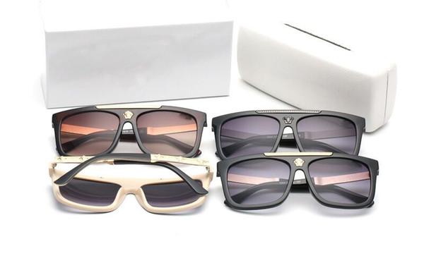 Diseñador de la marca Gafas de sol de alta calidad de metal Bisagra Gafas de sol Hombres Gafas Mujeres Gafas de sol lente UV400 Unisex con