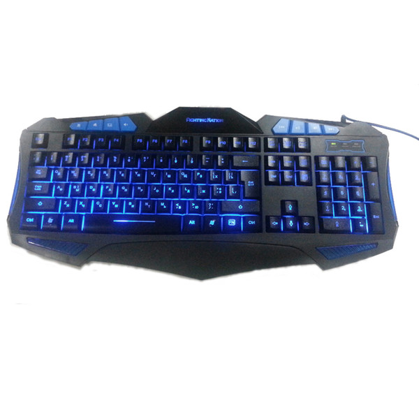 8d1079277ec ice Keyboards Keyboards Russian Backlit Illuminate Gaming Keyboard Fighting  Nation Russia Layout Letter Computer Wired USB