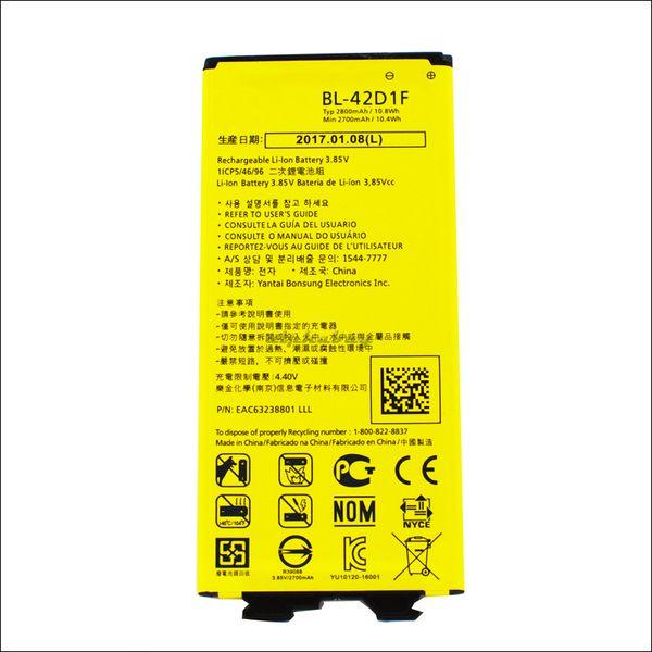 top popular For Lg G5 BL-42D1F 2800mAh Li-ion Replacement Battery For LG G5 H820 H830 H850 LS992 VS987 US992 akku dhl ddp freeshipping 2019