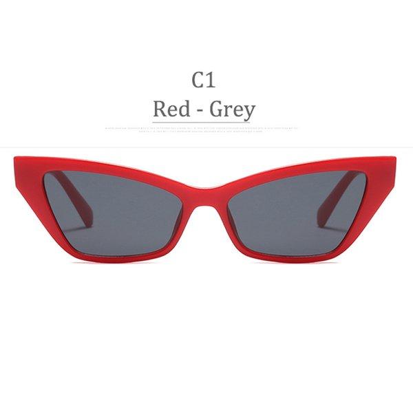 Lente grigia con montatura rossa C1
