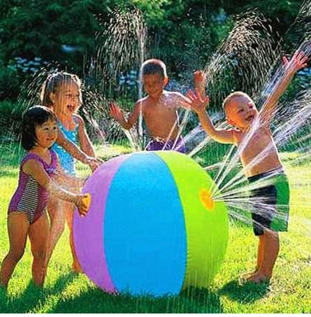 Inflatable Spray Water Ball Children\'s Summer Outdoor Swimming Beach Pool Play The Lawn Balls Playing Smash Funny Toy