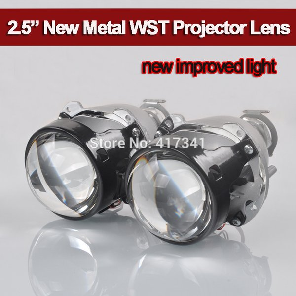 2018 Upgrade High Bright Full Metal H4 H7 Projector 2.5 WST Mini HID Bi-xenon Projector for Auto Headlight Using H1 HID Bulb