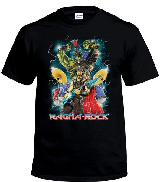 Camiseta inspirada en Thor Ragnarok Camiseta Ragna Rock Band, Camisetas de cómic para hombres