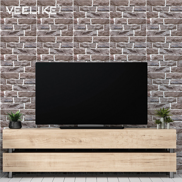 3D Wall Panels For Living Room TV Background Wallpaper for Kitchen Backsplash Tiles Waterproof Bathroom Home Decor Wall Papers