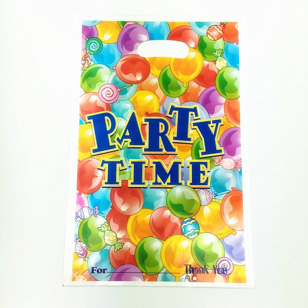 Wholesale- 6pcs birthday party theme PE printed plastic candy bags,shopping gift bag for Kids happy birthday event party supplies