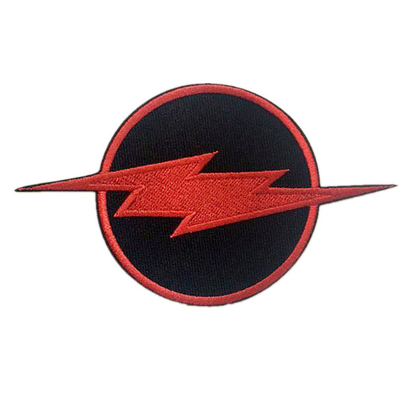 Embroidered Patch Red Lightning Sew Iron On Patches Badge For Bag Jeans Hat Appliques DIY Sticker Decoration Apparel Accessories