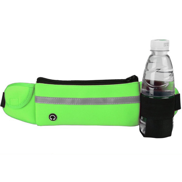 Sports Waist Pack Outdoor Fanny Pack With Water Bottle Holder Phone Wallet Slim Close Fit Running Belt Waist Bag Pouch Cell Phone Case
