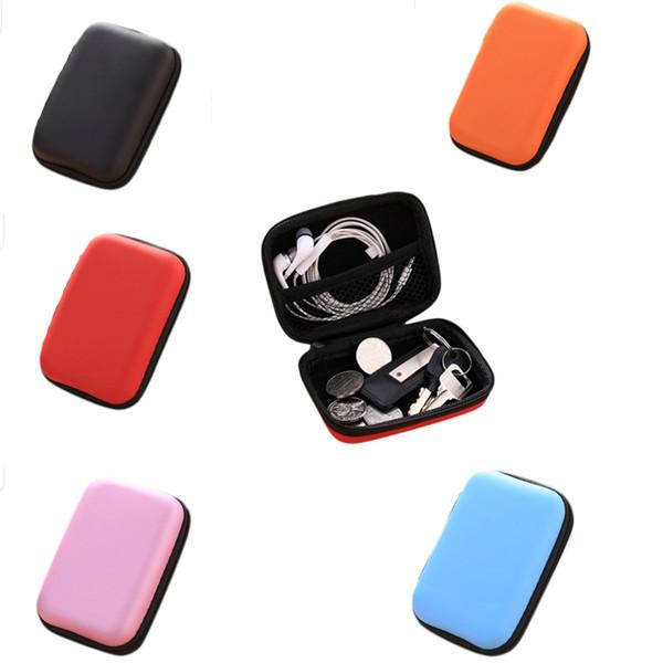 Mini caso custodia custodia per cuffie auricolari auricolari che trasportano custodia rigida custodia per chiavi moneta da viaggio auricolare acc