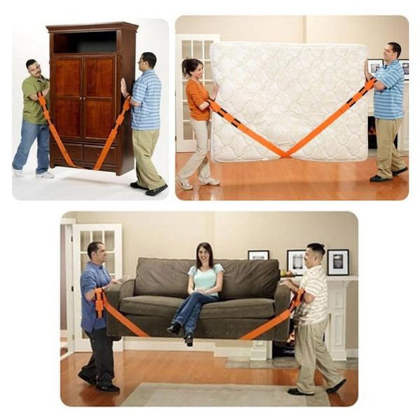 Laborsaving Correas para la muñeca Cinturón de transporte Artifact móvil 1 Set Inicio Move Nylon Rope Furniture House Herramientas prácticas