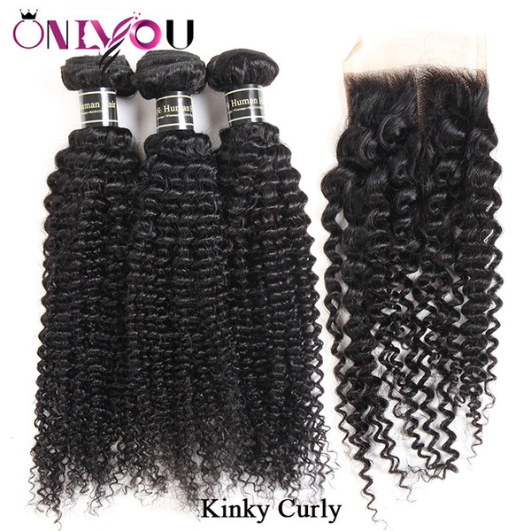 Kinky Curly Bundles with Closure