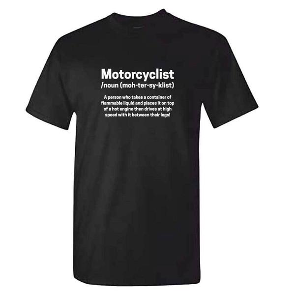 Maglietta da motociclista da uomo NOUN - Divertente abbigliamento per moto Padri Papà Motociclista Regalo 2018 Nuovi uomini T-Shirt Moda Estate cotone di alta qualità