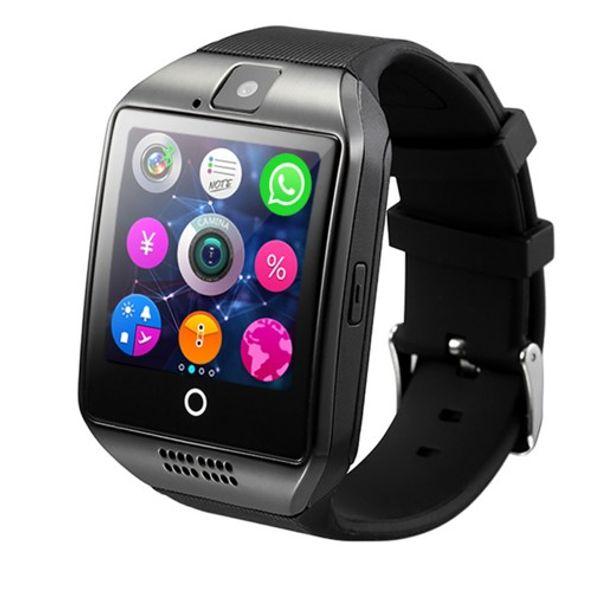 Vente chaude Q18S montre intelligente bluetooth smartwatch caméra TF Carte et carte SIM Q18S Smart Watch NFC Bluetooth compatible avec IOS et Android