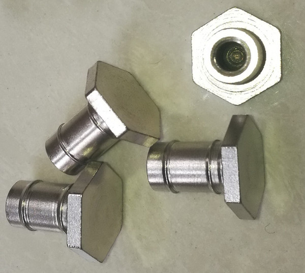 SW22 Steel Hexagon Nut Nickel Plated Special Machining Parts Height 24.6mm Threads M8X1.25 mm Insert 10 Pcs Per Lot