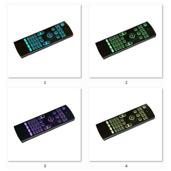 2018 New 2.4GHz MX3 Fly Air Mouse Laser Keyboards Qwerty Wireless Remote Controller for Android TV Box 7 RGB colors backlight keyboard