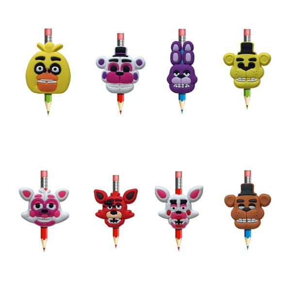 Creative Five Nights at Freddy's Figure Pens stationery Office Item Kids Gifts Pen Topper Pencil Decoration Cartoon Souvenir Free Shipping
