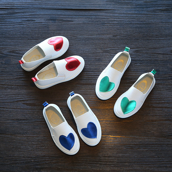 Designer New Children Sneakers Spring Autumn Kids School Shoes For Toddler Girls Flats Casual Tennis Breathable White Leather Shoes