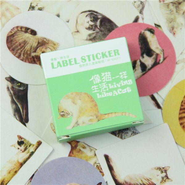 40 Pcs/box Cute Card Lover Mini Paper Sticker Set Decoration Diy Diary Scrapbooking Sealing Sticker Kawaii Stationery Memo Pad